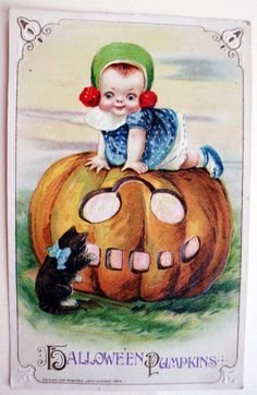 SALE  Rare Halloween Postcard Signed by VintageOnTheRidge on Etsy, $150.00