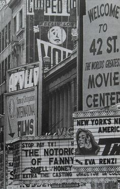 1968 Times Square, 42nd Street, New York City, vintage photography inspiration.  #inspiration #photography #NYC #black