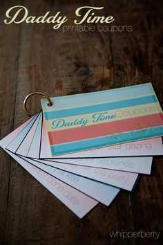 Love this! Free printable for a coupon book just for Dad :) @Heather Creswell // Whipperberry