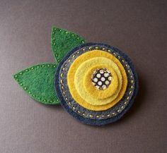 Circle felt flower. My fav.