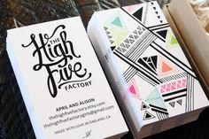 graphic design, creative business cards, high five, card designs, pattern, carte de visite, factori, business card design, busi card