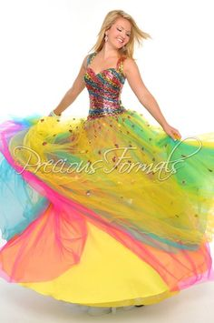 A beautiful, full skirted prom dress from Precious Formals.