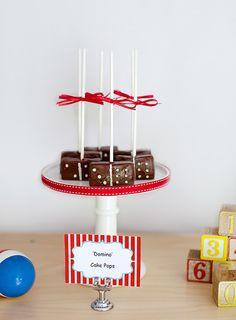 Domino cake pops