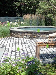 more natural looking sunken hot tub