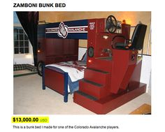 Jax on pinterest tractor bed fire trucks and bunk bed for Zamboni room design