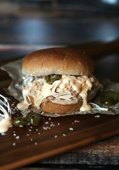 Jalapeno Popper Pulled Chicken Sandwich by @Shelly Jaronsky (cookies and cups)