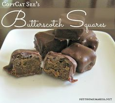 Homemade Butterscotch Squares - brown sugary goodness wrapped in milk chocolate - suzyhomemaker.net