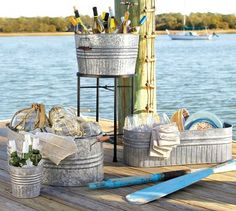 Love galvanized metal containers!