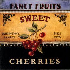 Sweet Cherries label
