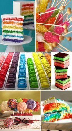 Rainbow birthday theme