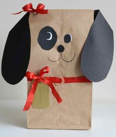 DIY:: Paper bag puppies for Favors or Gift Wrap ! Tutorial from willow day