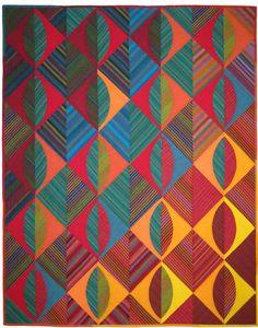 """Turning Leaves"" by Lori Allison, shot cottons by Kaffe Fassett"