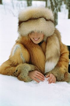 Fox fur coat & hat