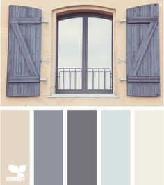 Blue-gray and beige