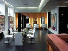 Great use of space inside salon.
