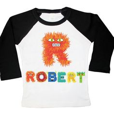 Beastly Boy Monster Name Tee. Monster Letters Rule!
