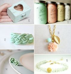 20 Mint Wedding Ideas: #10-15 #handmade #wedding #mint