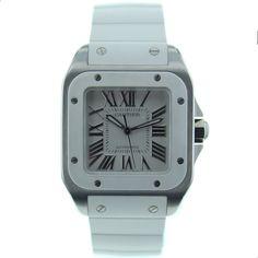 Cartier watch brands for Women W20122U2 Santos 100 Medium Watches