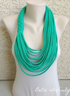 Bella Infinity Braided Scarf UpCycled by ....