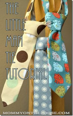 The Little Man Tie Tutorial (or, How to Make a Tie):  Mommy on the Loose
