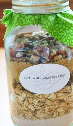 Oatmeal Chocolate Chip Cookie Jar Mix