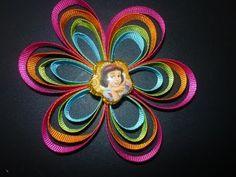 Manualidades y accesorios la hormiga. como hacer una flor en cintas. video No.051