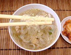 Chicken Long Rice in not rice, but are noodles made from plant starch.  (mung or cassava, or yam and more) It is more like a Chicken Noodle Soup Hawaiian Style : ) Susie