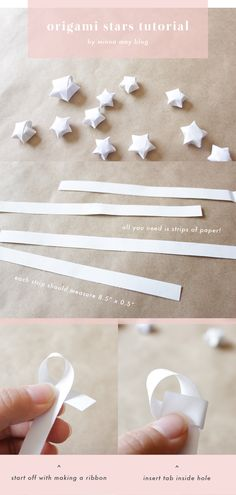 minna may blog: origami stars tutorial