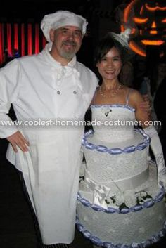 Coolest Baker and His Cake Couple Costume
