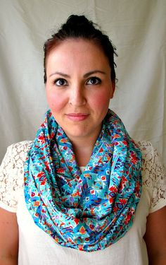 Aztec Infinity Scarf  Loop Scarf fashion scarf by FeathersandFancy #infinity #scarf #giftforher #aztec
