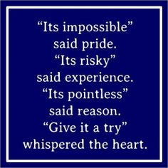 Just try...