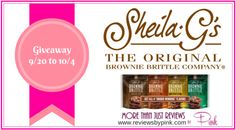 Sheila G's Brownie Brittle Review and Giveaway - http://reviewsbypink.com/brownie-brittle-review-giveaway/