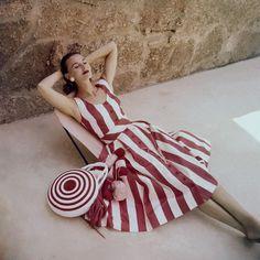 Stripe Dress - photo by Clifford Coffin, 1955