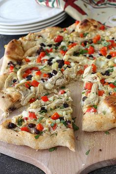 southwestern chicken pizza with chipotle cream cheese sauce