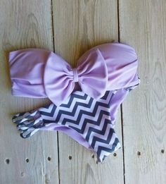 bow and chevron bikini