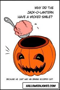 Jack-o-Lantern Cartoon Joke