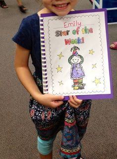 Star of the Week FREEBIE! Classmates each write their own page on why the star of the week is special, while the special student decorates the cover. We read it at the end of the week and it is a great keepsake for the star of the week to keep!