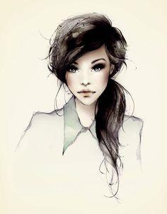 girl drawings | art, drawing, face, fashion, girl - inspiring picture on Favim.com