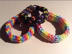 New Rainbow Loom Triple Cross Fishtail Bracelet -  6 Pins