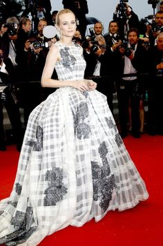 Diane Kruger Wears Christian Dior Couture in Cannes