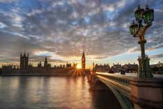 Sunset, Thames River, London