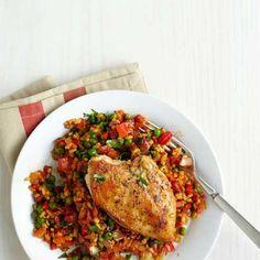 Healthy Arroz con Pollo chicken dinners, healthy dinners for two, healthy arroz con pollo, healthi arroz, dinner for two ideas, healthy dinner ideas for two, healthi dinner, healthy dinners beachbody, healthy chicken