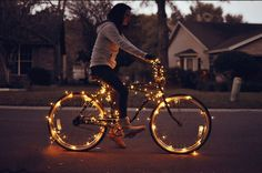 Christmas lights on a bike - who needs a tree? when you have this