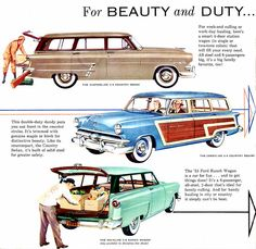 """1953 Ford Station Wagon Models: """"For Beauty and Duty"""""""