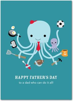 Some dad's can do it all!  Father's Day cards from treat.com