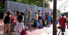 a community chalkboard.  i love it.