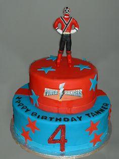 Power Rangers Cake http://birthdays.momsmags.net/power-rangers-cake-ideas-decorations/