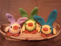 Chick in a bunny suit free pattern