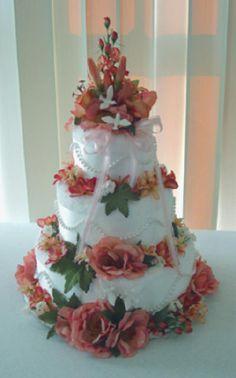 towel wedding cake, towel cakes, craft idea, rose wedding, wedding cakes, fall weddings, towels