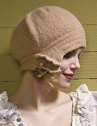 knitted cloche. So beautiful.
